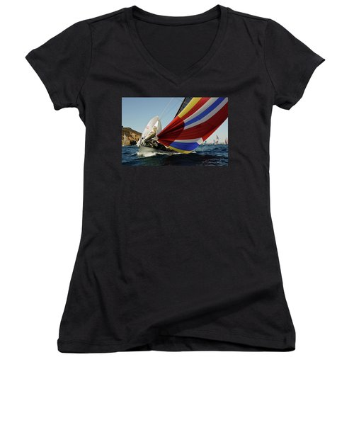 Colorful Spinnaker Run Women's V-Neck