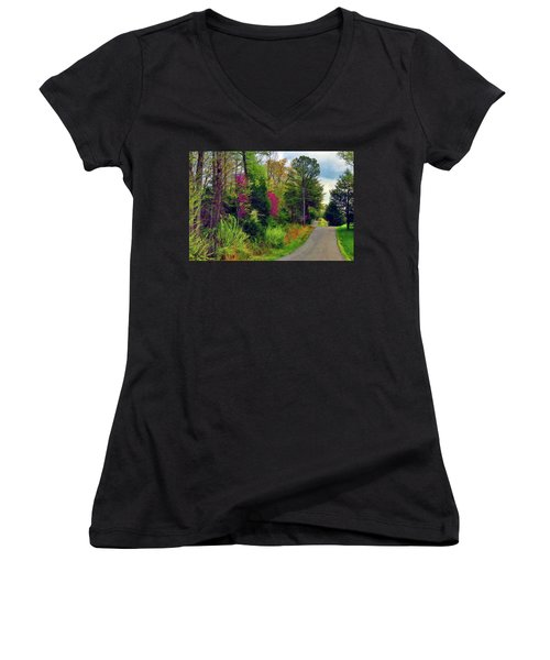 Country Road Take Me Home Women's V-Neck