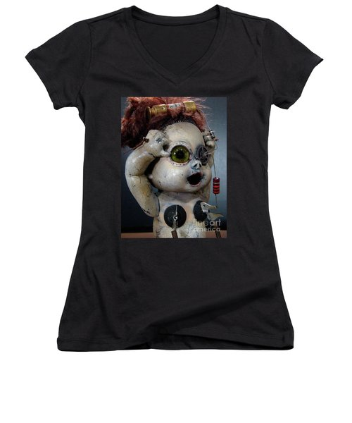 Creepy Edison Women's V-Neck