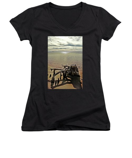 Cypress On The Beach Women's V-Neck