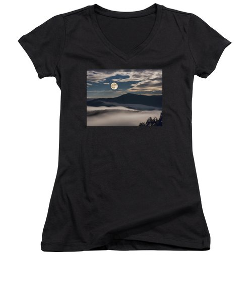 Dance Of Clouds And Moon Women's V-Neck