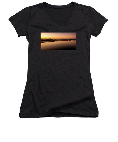 Dawn Light, Ogunquit River Women's V-Neck