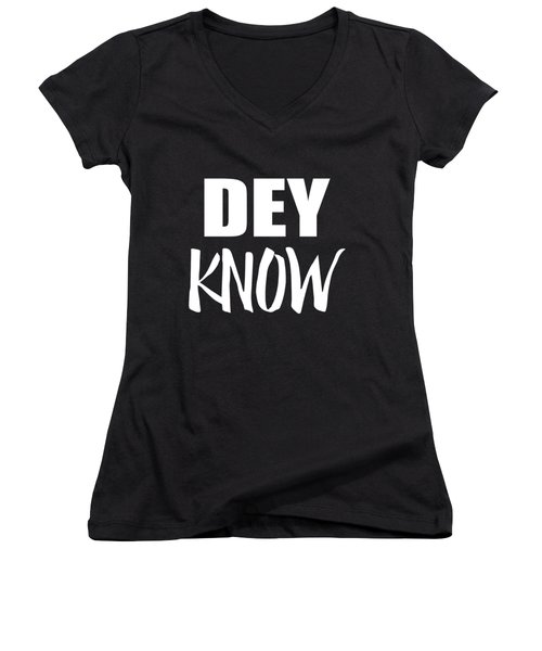 Women's V-Neck featuring the digital art Dey Know by Flippin Sweet Gear