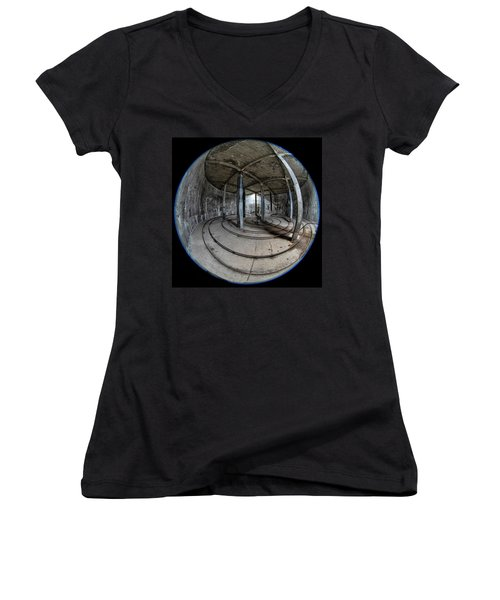 Djupavik Cannery Herring Oil Tank Women's V-Neck