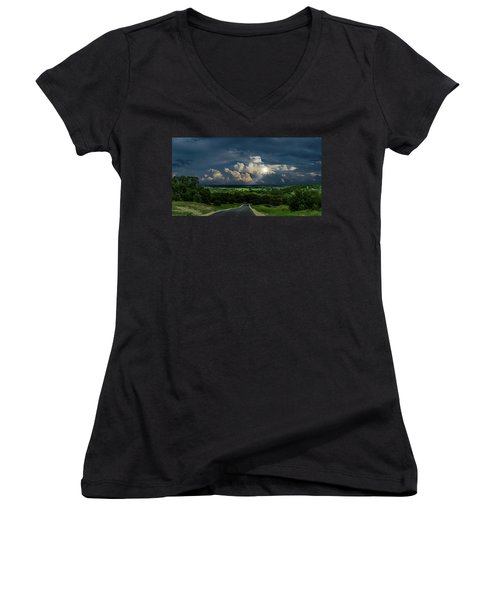Down Hill From Here Women's V-Neck