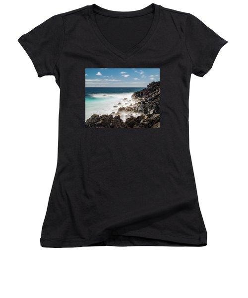 Dreamy Hawaiian Coastline Women's V-Neck