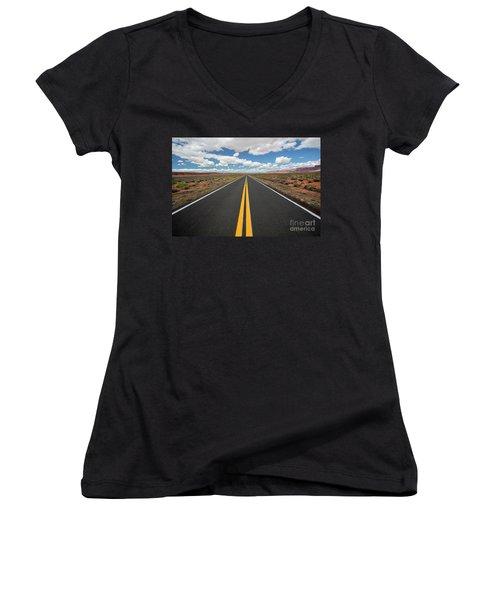 Empty Highway Women's V-Neck