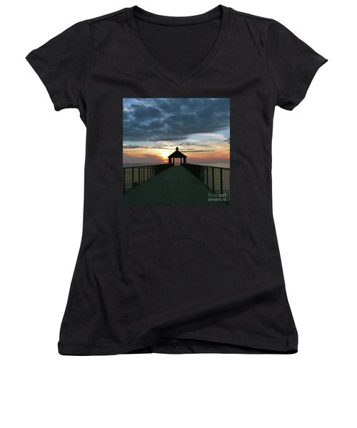 Evening Peace Women's V-Neck