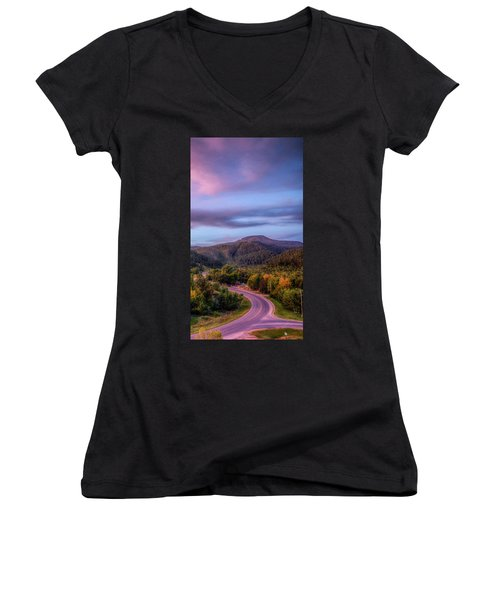Women's V-Neck featuring the photograph Fairytale Triptych 3 by Fiskr Larsen
