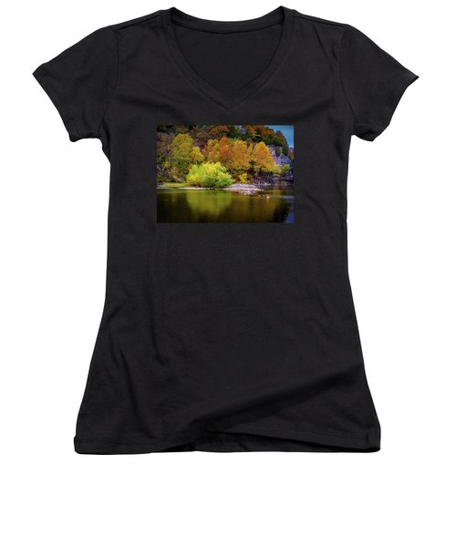 Fall Colors Of The Ozarks Women's V-Neck