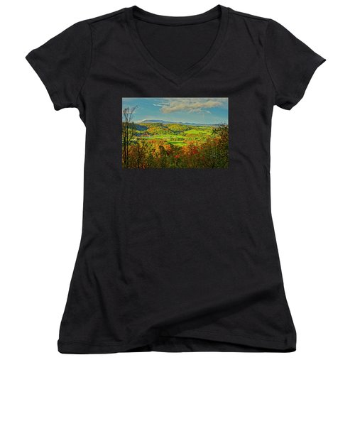 Fall Porch View Women's V-Neck
