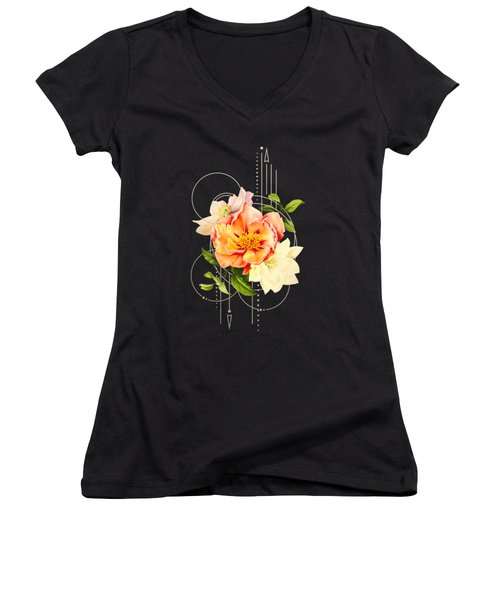 Floral Abstraction Women's V-Neck