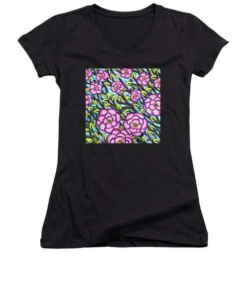 Floral Whimsy 3 Women's V-Neck