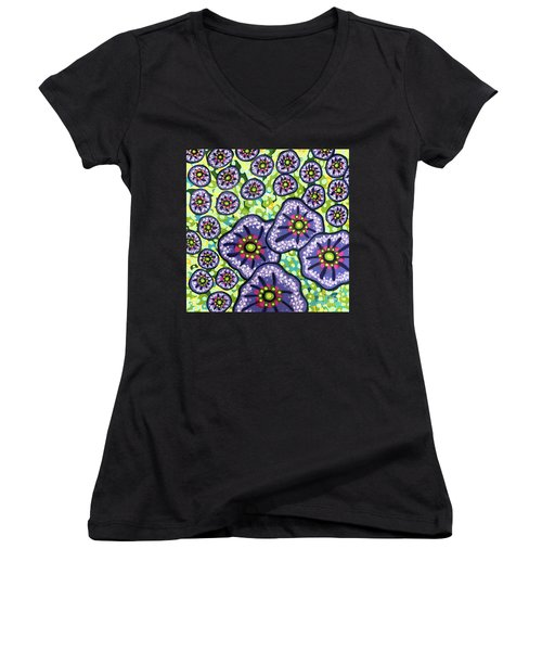 Floral Whimsy 4 Women's V-Neck