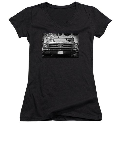 Ford Mustang Vintage 1 Women's V-Neck