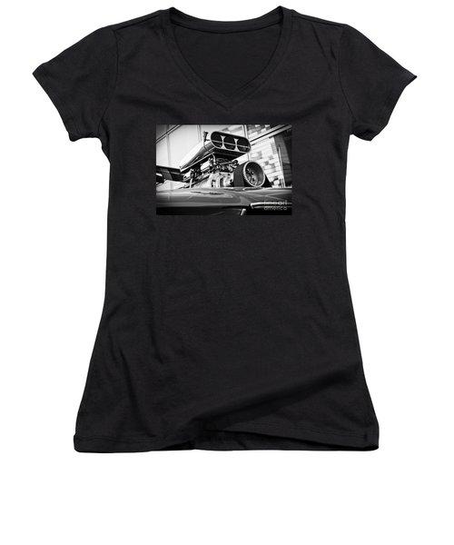 Ford Mustang Vintage Motor Engine Women's V-Neck