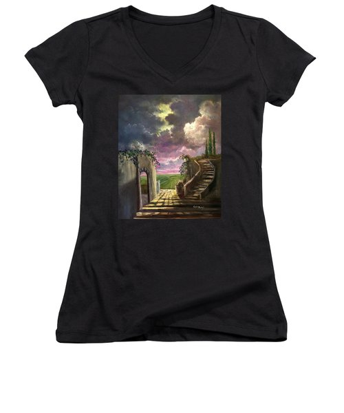 Garden Of The Ancients Women's V-Neck