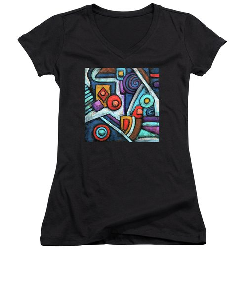 Geometric Abstract 4 Women's V-Neck