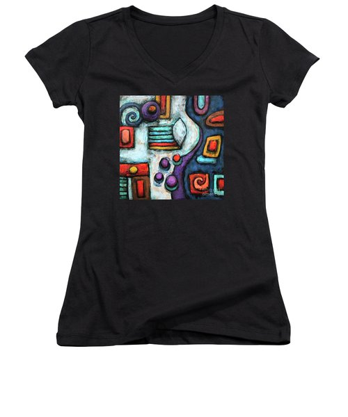 Geometric Abstract 5 Women's V-Neck