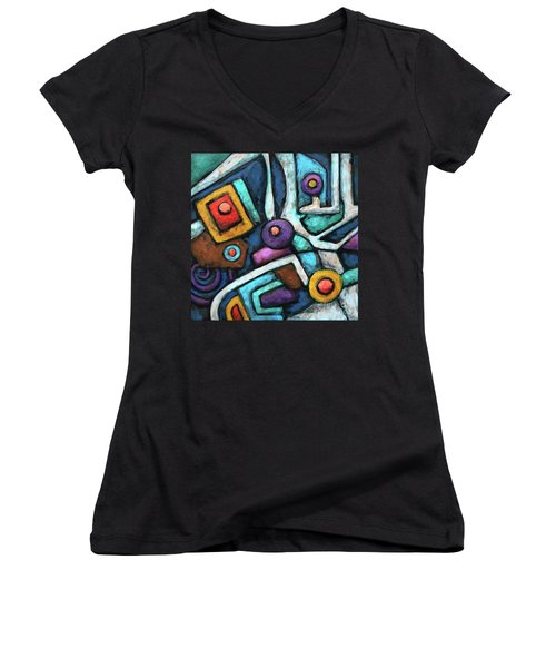 Geometric Abstract 6 Women's V-Neck