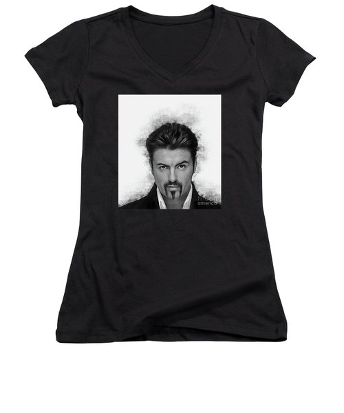 George Michael Women's V-Neck