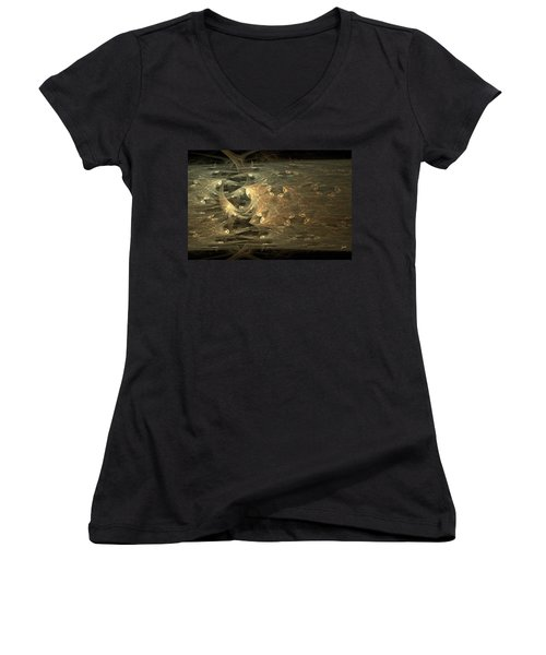 Golden Soul - Modern Abstract Art Women's V-Neck