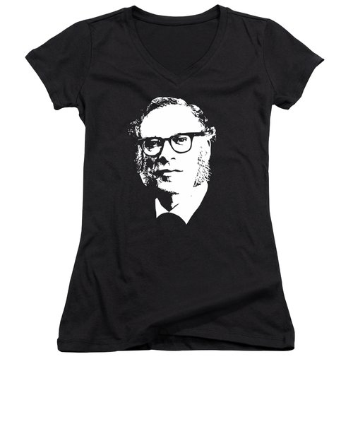 Isac Asimov Minimalistic Pop Art Women's V-Neck