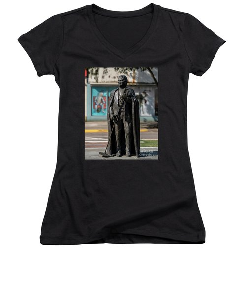 James Brown Statue - Augusta Ga 2 Women's V-Neck