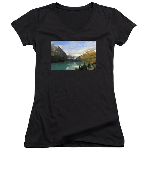 Lake Louise At Dawn Women's V-Neck