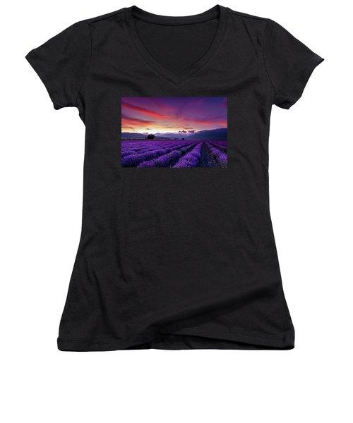 Lavender Season Women's V-Neck