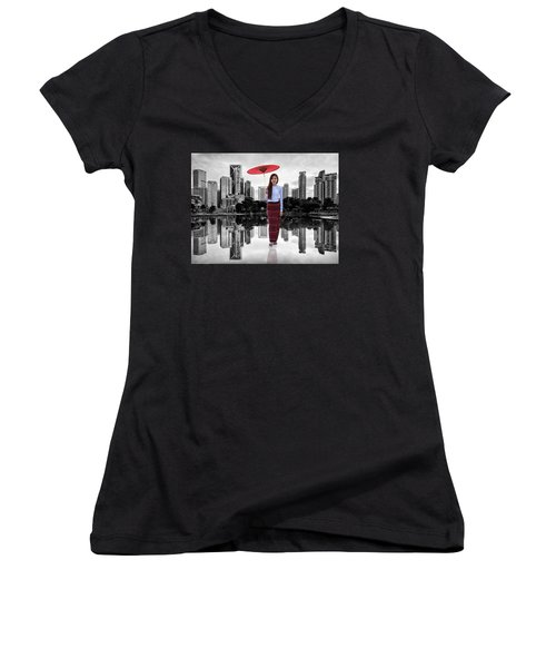 Let The City Be Your Stage Women's V-Neck