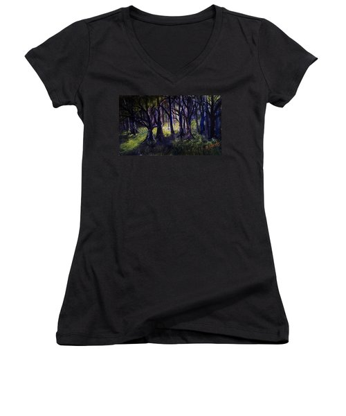 Light In The Forrest Women's V-Neck