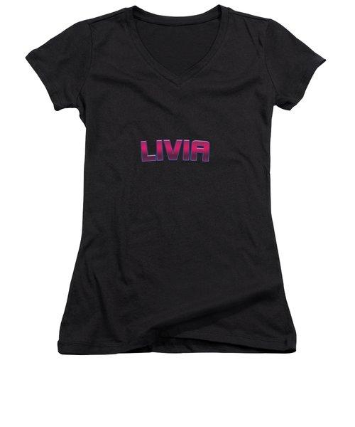 Livia #livia Women's V-Neck