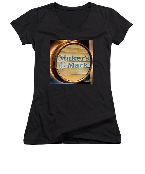 Makers Mark Barrel Women's V-Neck