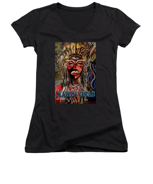 Mardi Gras 2019 Women's V-Neck