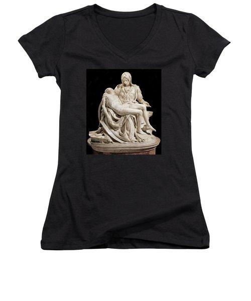 Michelangelo La Pieta Women's V-Neck