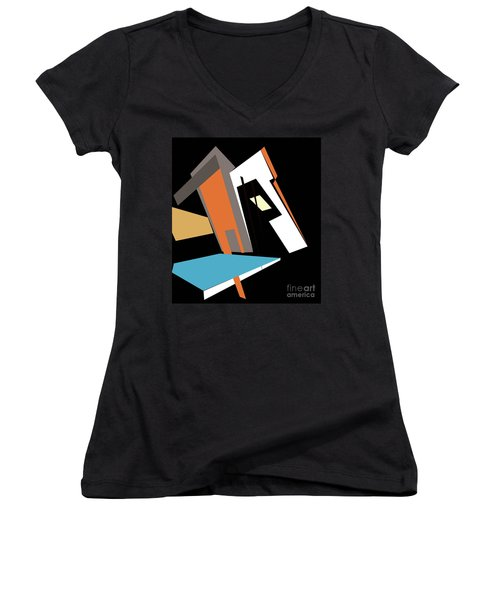 My World In Abstraction Women's V-Neck