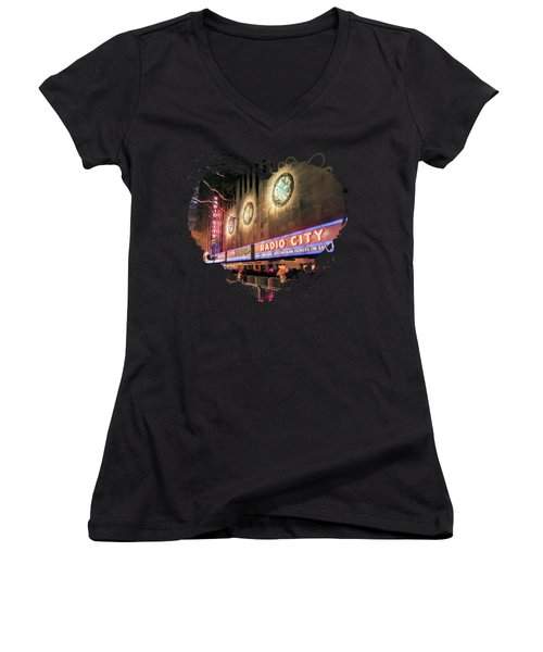 New York City Radio City Music Hall Women's V-Neck