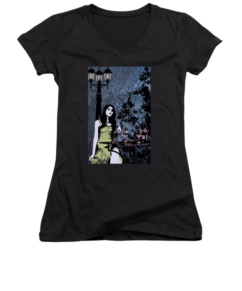 Out At Night Women's V-Neck