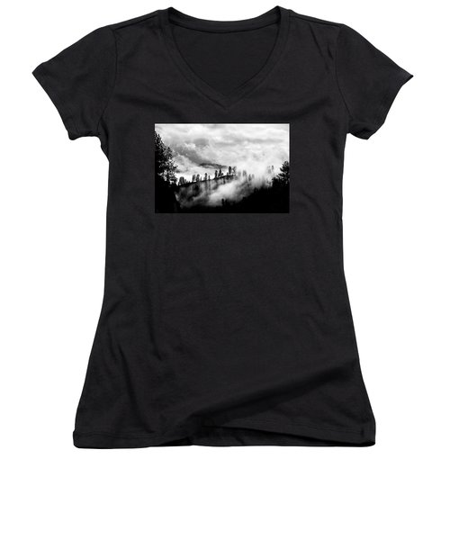 Passing Storm Central Idaho Mountains Women's V-Neck