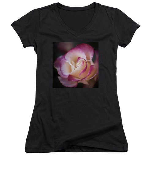 Pink Kiss By Tl Wilson Photography  Women's V-Neck