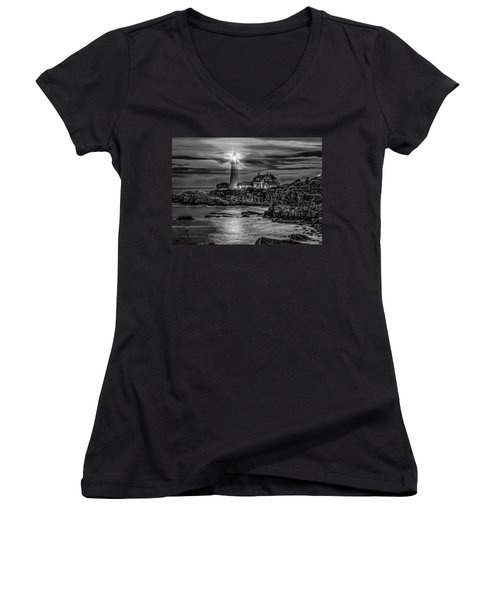 Portland Lighthouse 7363 Women's V-Neck