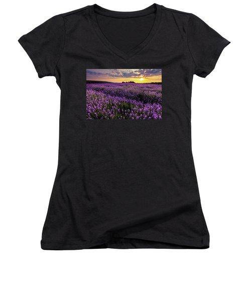 Purple Sea Women's V-Neck