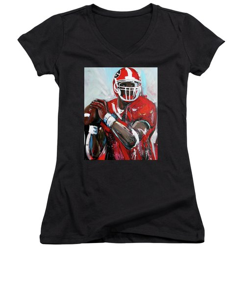 Quarterback Women's V-Neck