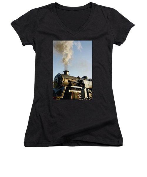 Ramsbottom. East Lancashire Railway. Locomotive 80080. Women's V-Neck