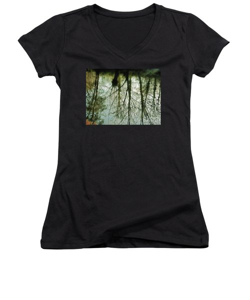 Women's V-Neck featuring the photograph Reflections by Leigh Kemp