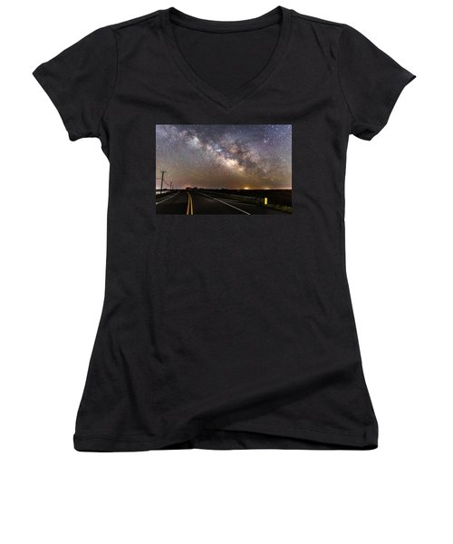 Road To Milky Way Women's V-Neck