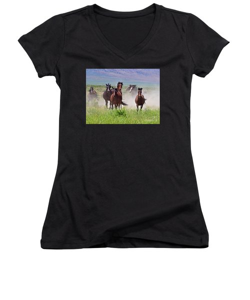 Running Together Women's V-Neck