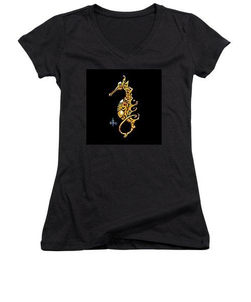 Seahorse Golden Women's V-Neck
