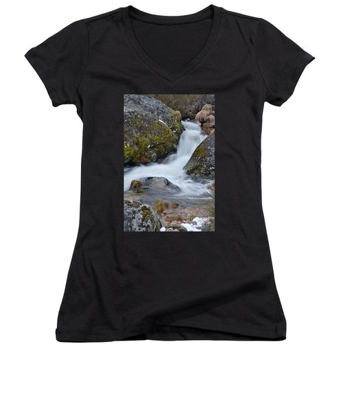 Serra Da Estrela Waterfalls. Portugal Women's V-Neck